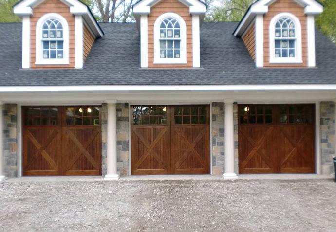 Custom Mahogany Garage Doors Built By H B Whitaker Garage Doors