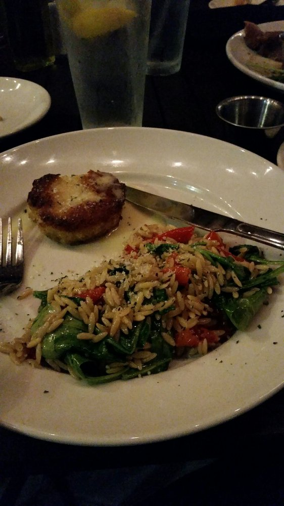 Crabcake with orzo is devine! - Yelp