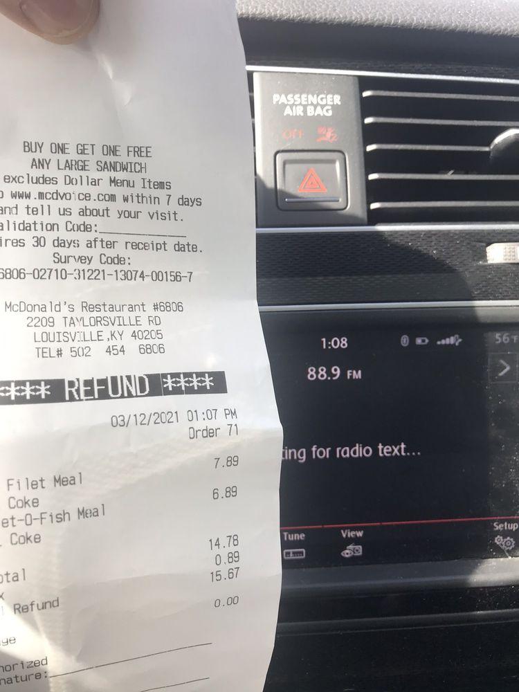 McDonald's: 2209 Taylorsville Rd, Louisville, KY