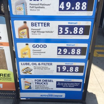 Oil Change At Walmart >> Walmart Auto Center Different Types Of Oil Change Prices