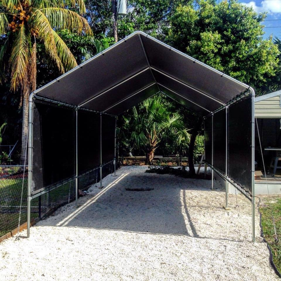 12x30 carport with optional side curtains - Yelp