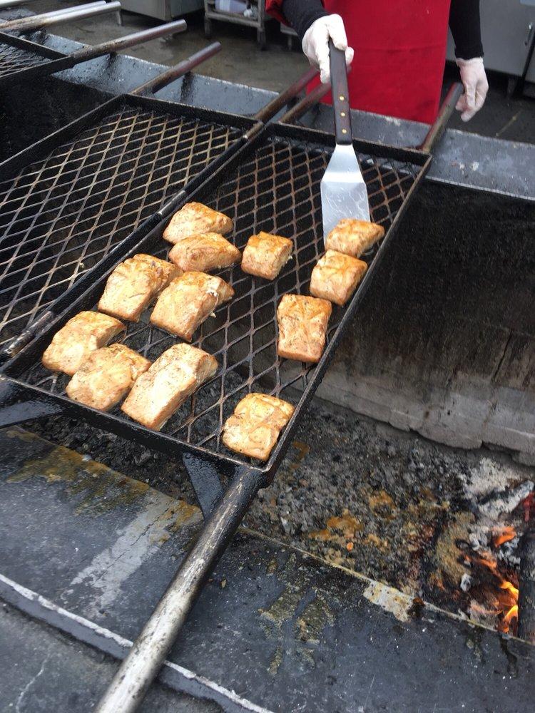 Food from Alaska Salmon Bake