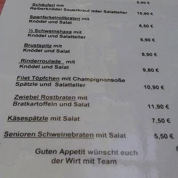 Gemütlich Kreuzschänke Regensburg Speisekarte Galerie ...