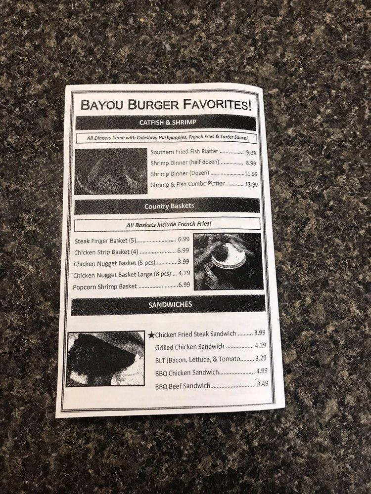 Bayou Burgers: 2962 hwy 107, Effie, LA
