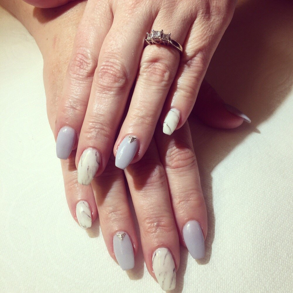 Marble nails with nexgen - Yelp