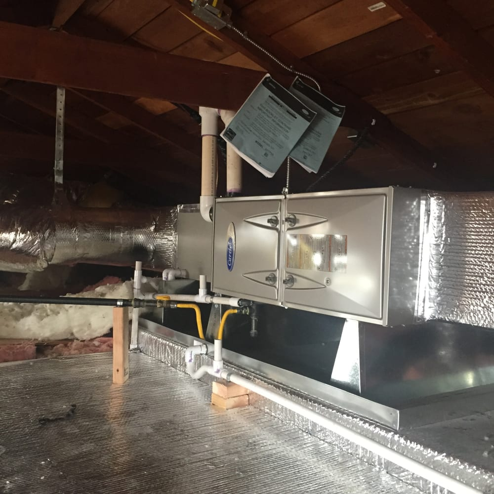 Furnace Install 95  2 Stage Attic Relocation Carrier