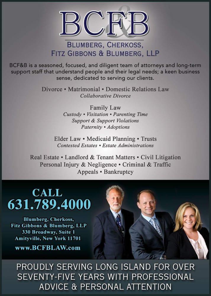 Blumberg, Cherkoss, Fitz Gibbons & Blumberg, LLP: 330 Broadway, Amityville, NY