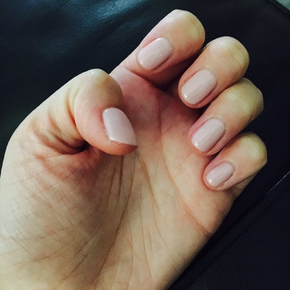 Gel manicure with \
