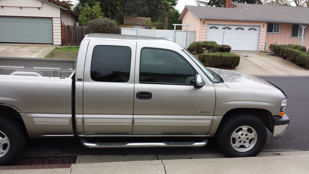 2000 chevy silverado 35 tint on two front windows and 15 for 18 percent window tint