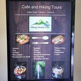 Hiking Hawaii Cafe Menu