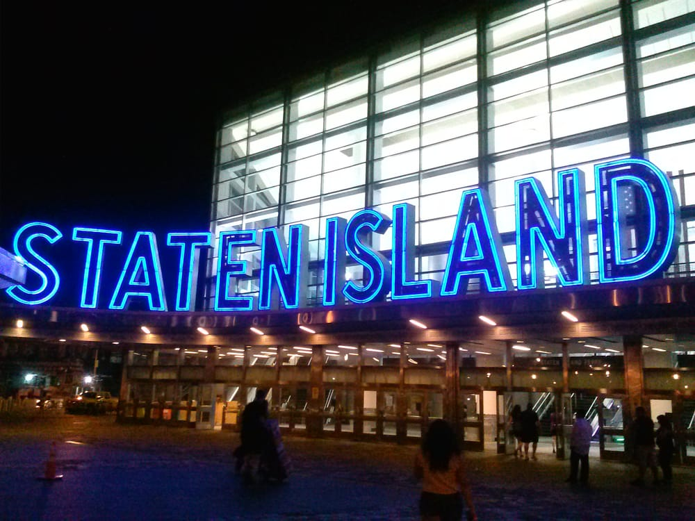 Photo of The Staten Island Ferry - Staten Island, NY, United States. Whitehall side of the South Ferry Entrance