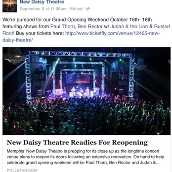 Photo Of New Daisy Theatre Memphis Tn United States Facebook
