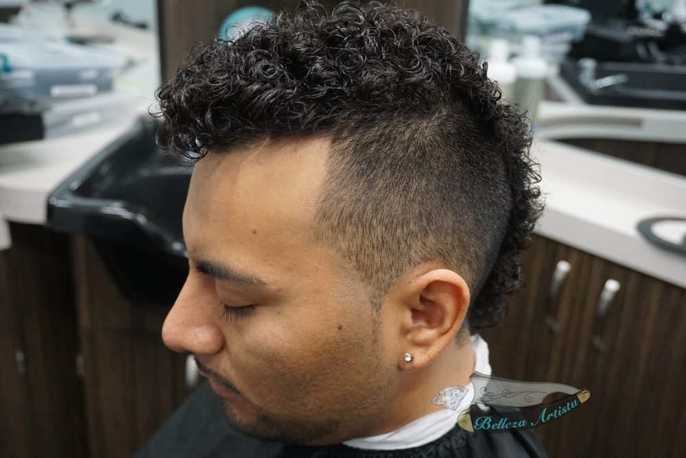 Photo Of Belleza Artista   Anaheim, CA, United States. Curled Perm With  Mohawk