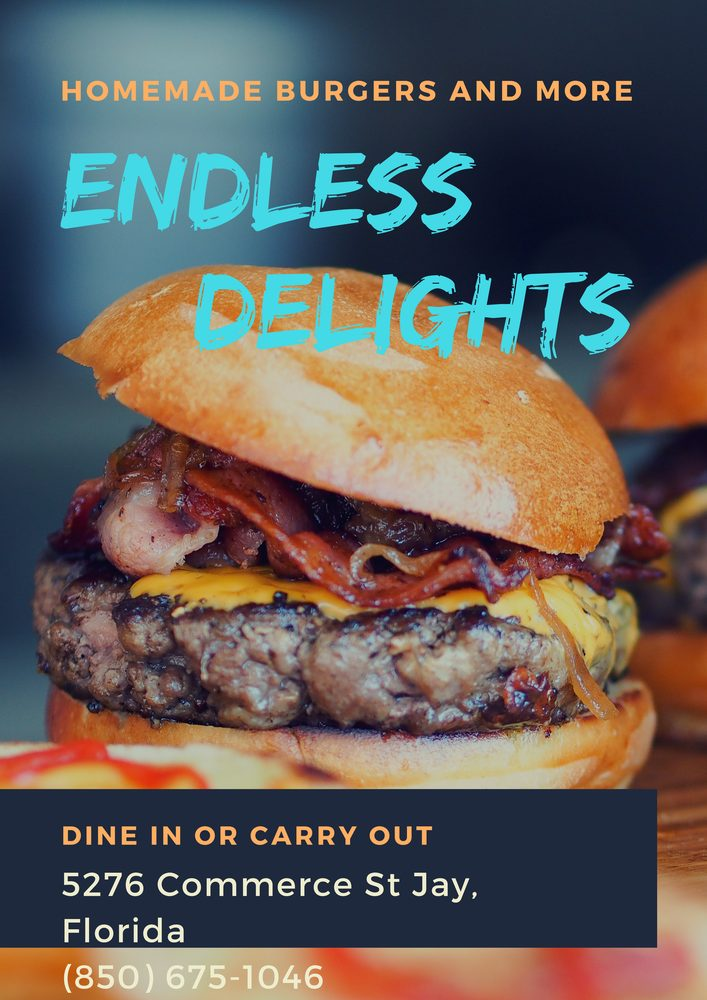 Endless Delights Cafe & Catering: 5276 Commerce St, Jay, FL