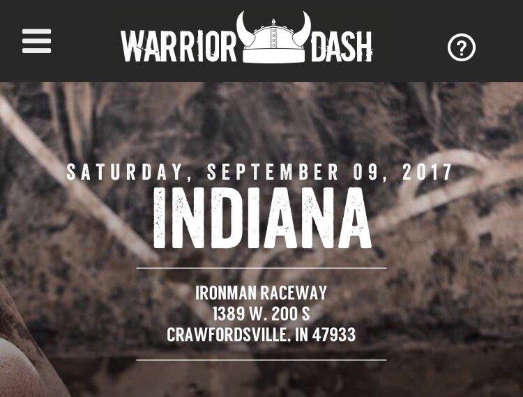 Warrior Dash: 1389 W 200th S, Crawfordsville, IN