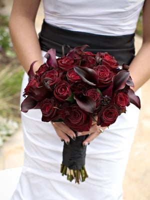 Black Baccara Roses With Schwartz Mini Calla Lilies Yelp
