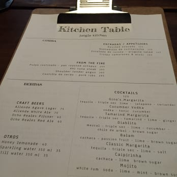 Kitchen Table Photos Reviews Portuguese Carretera - The kitchen table menu