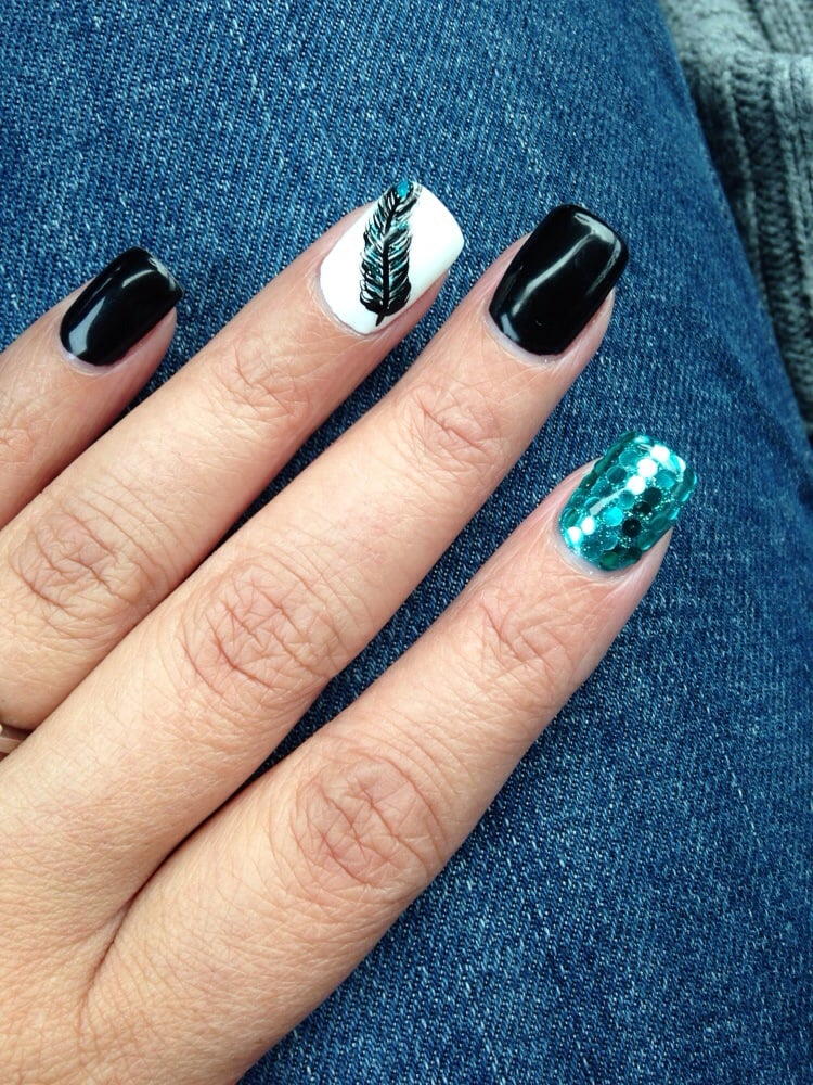 Nice Nails Schwarz Pink Gallery - Nail Paint Design Ideas ...