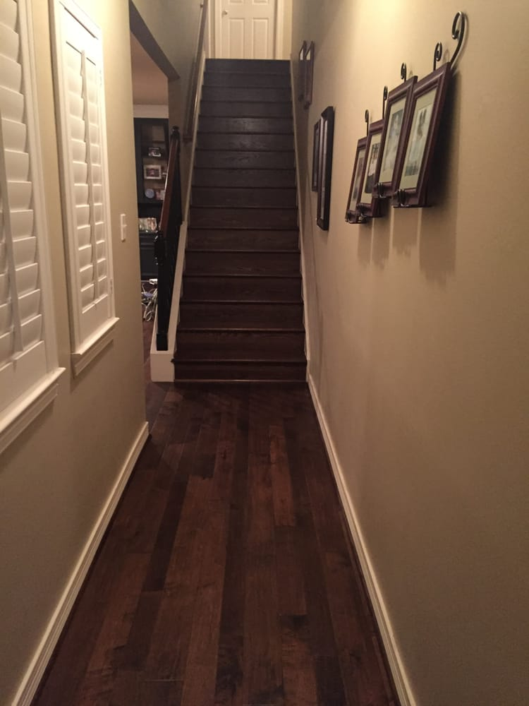 Chalet maple vail engineered wood floors and oak stairs for Hardwood floors on stairs