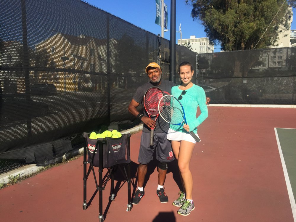Photo of Tennis Lessons By Mcclain - San Francisco, CA, United States. Coach McClain and Adrianna