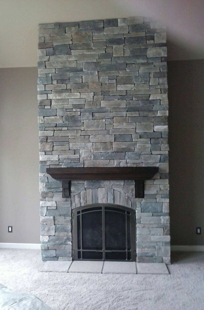 fireplace done in echo ridge country ledgestone by boral cultured rh yelp com Drystack Ledgestone Fireplace Drystack Ledgestone Fireplace