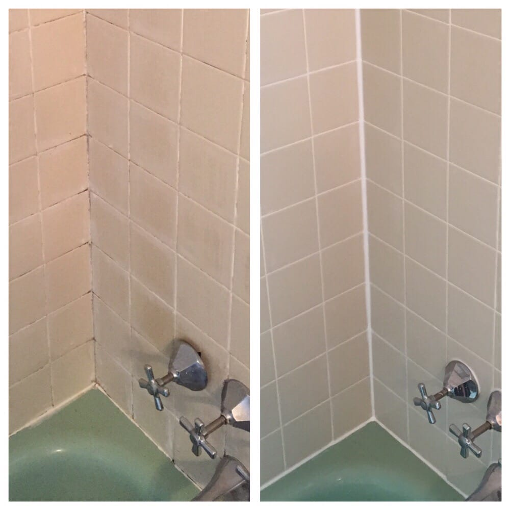 Shower cleaning and re-grouting - Yelp
