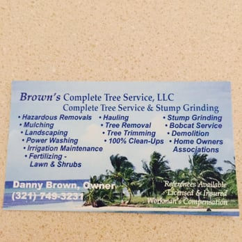 photo of browns complere tree service melbourne fl united states this is - Tree Service Business Cards