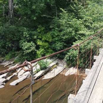 Old swinging bridge at burnsville wv