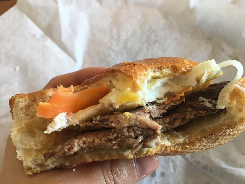 Lemongrass flank steak banh mi - Yelp