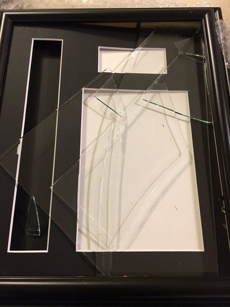 Tassel frame with shattered glass - Yelp