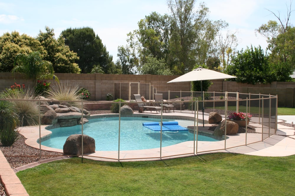 Arizona pool fence get quote fences gates phoenix for Cloture amovible piscine quebec
