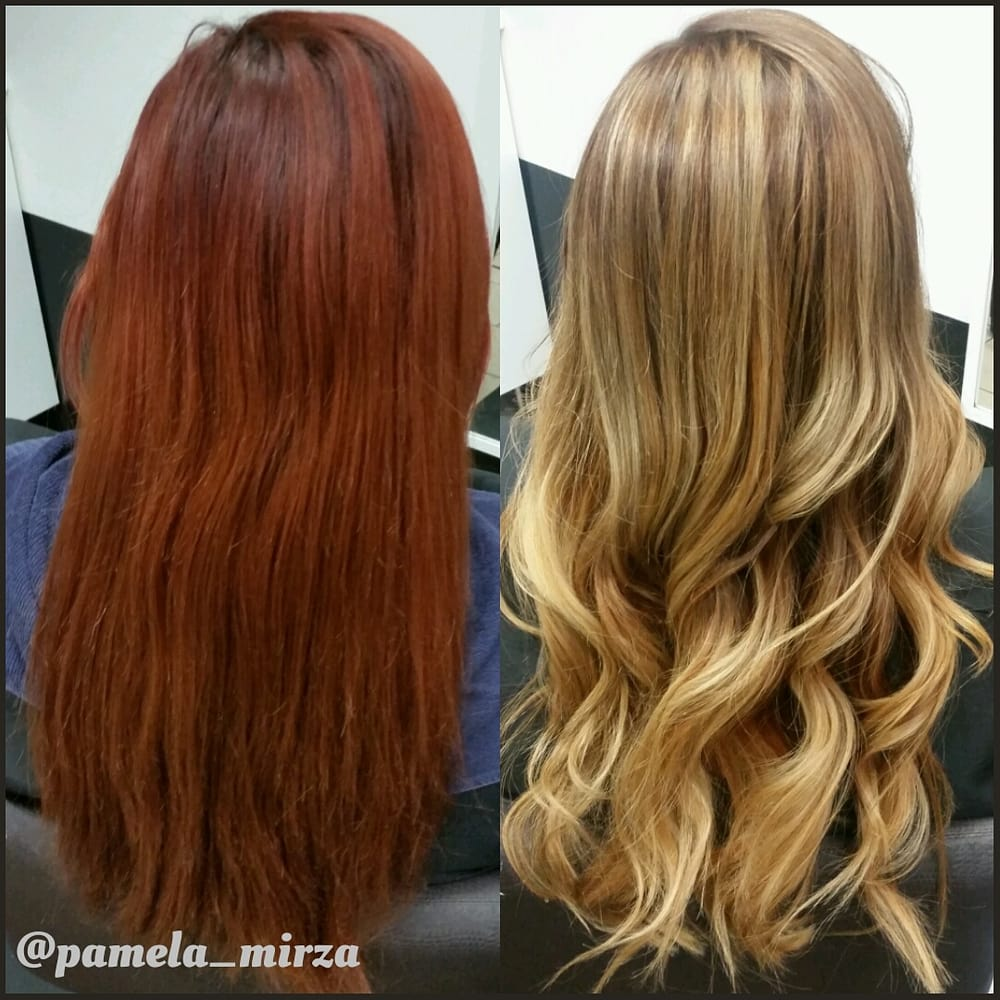 Corrective Color Red To Blonde Yelp
