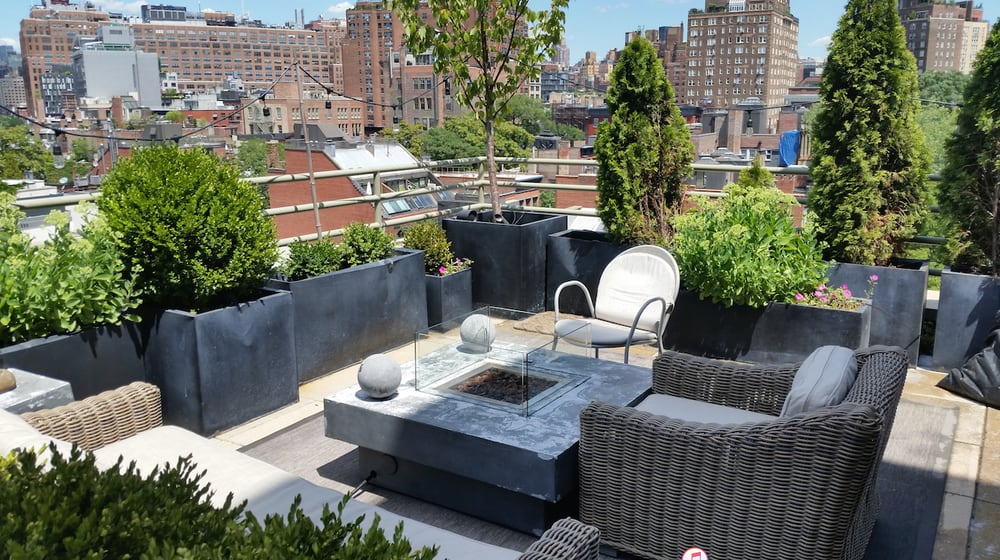 NYC Rooftop Penthouse Garden Design And Irrigation ...