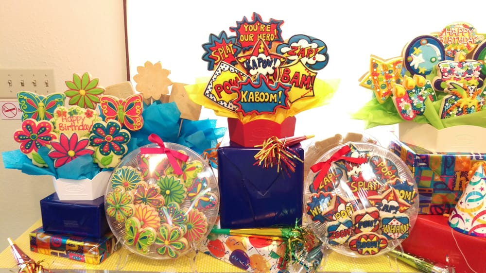 Birthday Celebration Display Cookies By Design Ft Worth Tx
