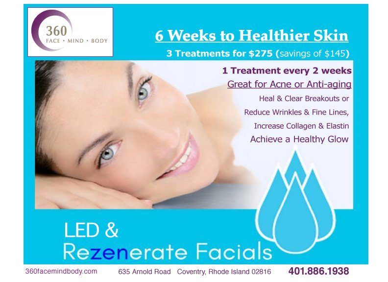 360 Face Mind Body Skin Care 635 Arnold Rd Coventry Ri Phone