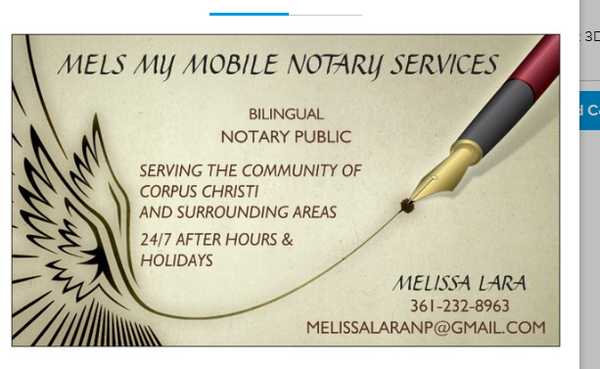 Mels My Mobile Notary Services 1442 Coahuila St Corpus Christi, TX