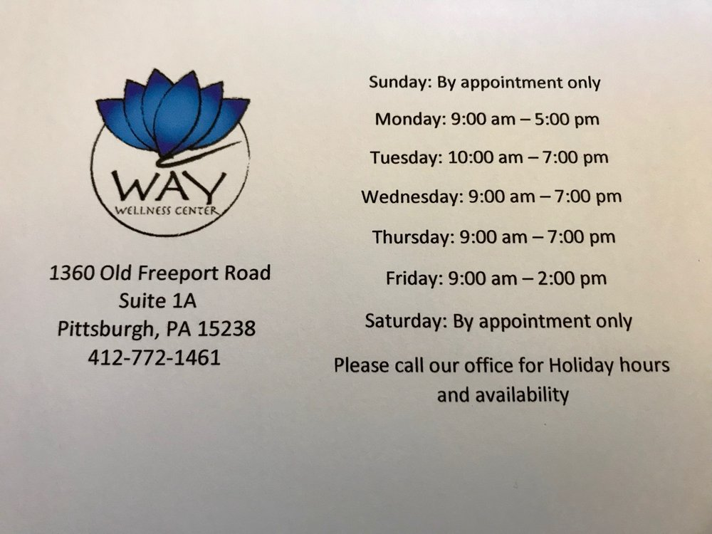 WAY Wellness Center: 1360 Old Freeport Rd, Pittsburgh, PA