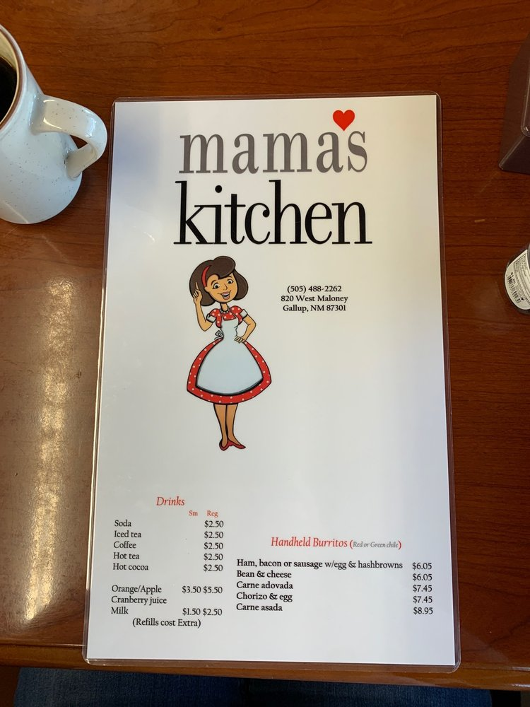Mama's Kitchen: 820 W Maloney, Gallup, NM