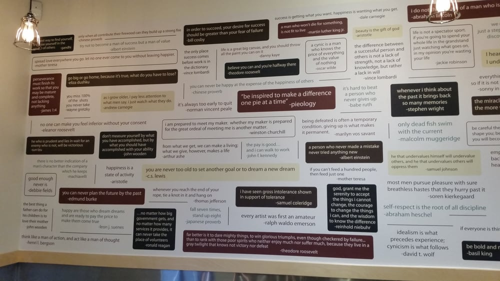 Photo Of Pieology Pizzeria   Valencia, CA, United States. Wall Of  Inspirational/