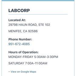 Labcorp 14 Reviews Laboratory Testing 29798 Haun Rd Menifee