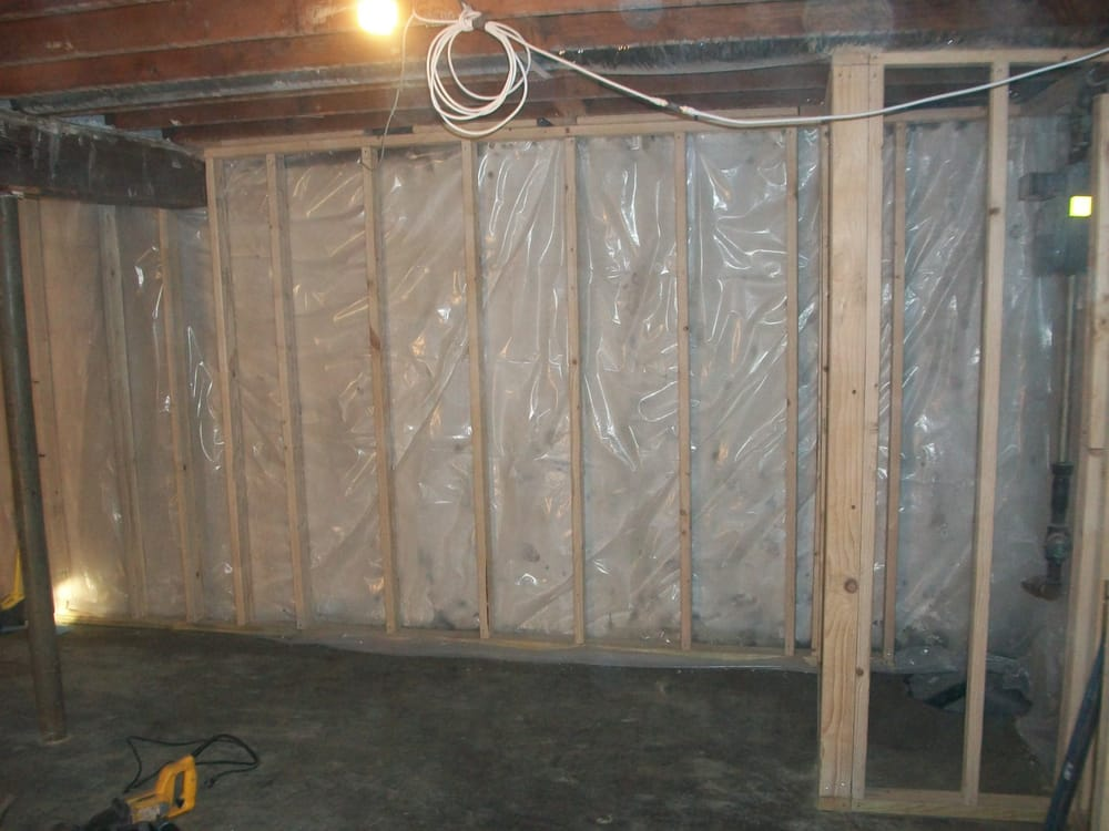 concrete walls sealed and vapor barrier yelp rh yelp com insulating and vapor barrier basement walls insulating and vapor barrier basement walls