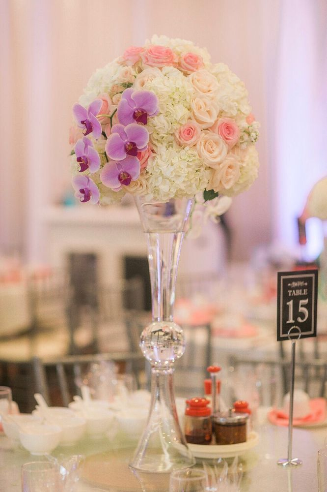 Beautiful Tall Flower Vases On Every Table Yelp