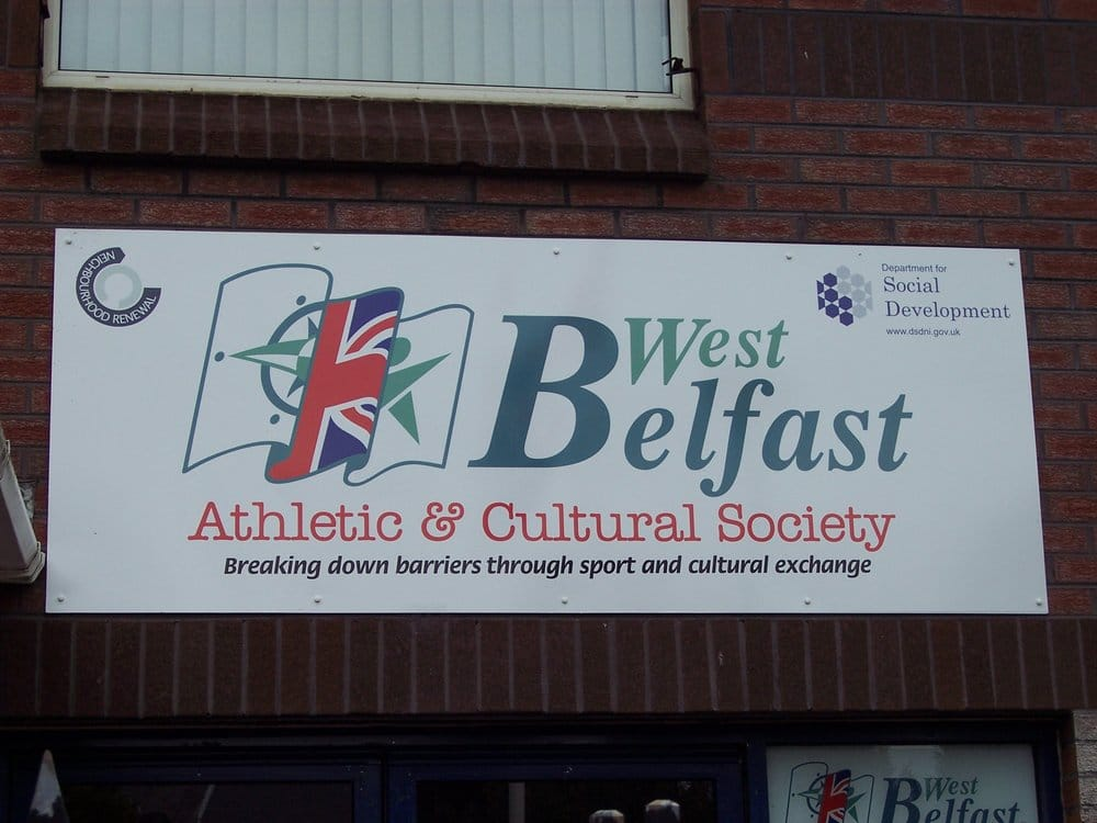 West Belfast Athletic & Cultural Society   236-242 Shankill Road, Belfast BT13 2BL   +44 28 9032 7717