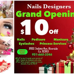 Hair nails designers nail salons 10112 indiana ave photo of hair nails designers riverside ca united states 10 off prinsesfo Image collections