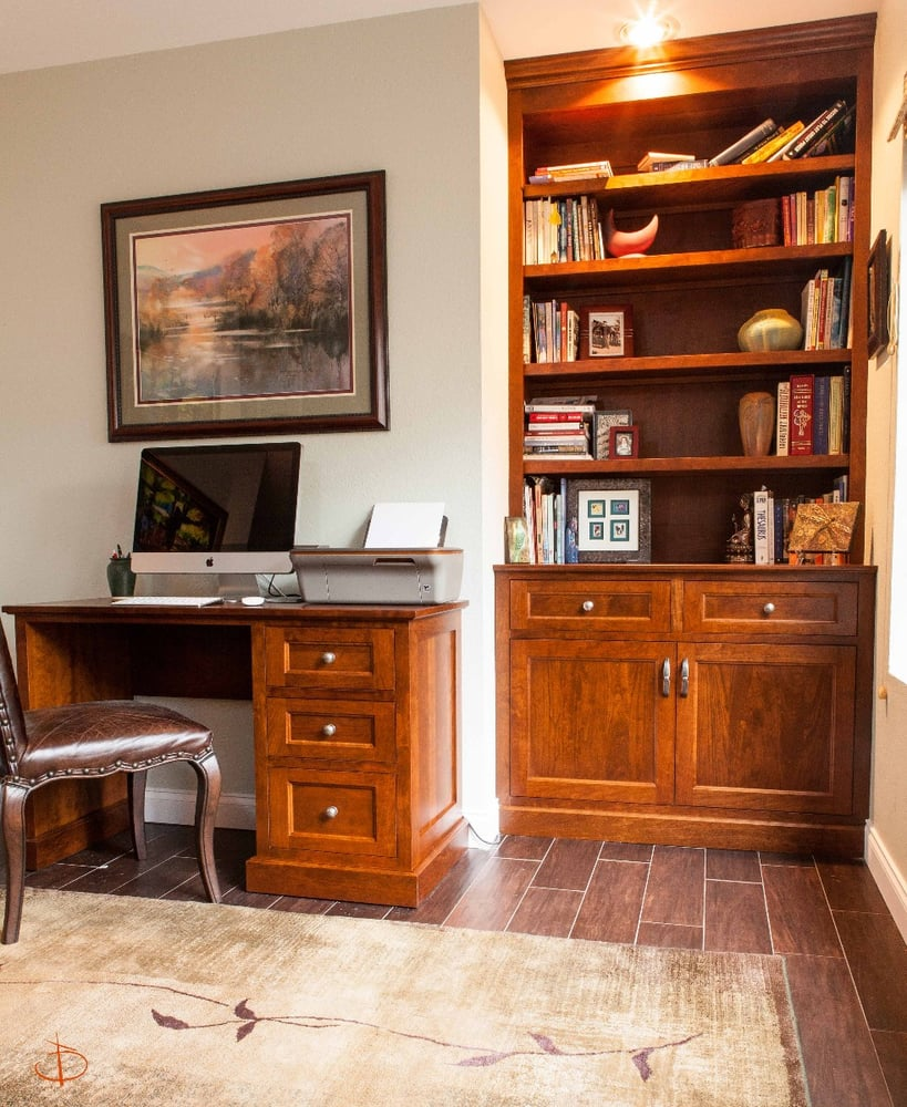 Don Willis Furniture's Custom Bookcase And Desk- Made By