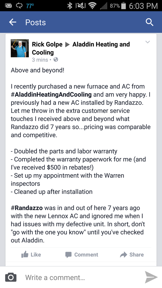 Randazzo Heating & Cooling - (New) 17 Photos & 28 Reviews