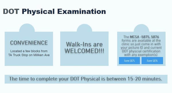 Dot Physical Examination  E Lowell St Ste A Ontario Ca