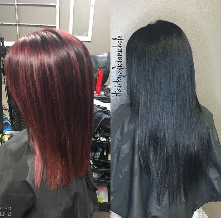 Before And After Color And Crown Halo Babe Hair Extensions Yelp