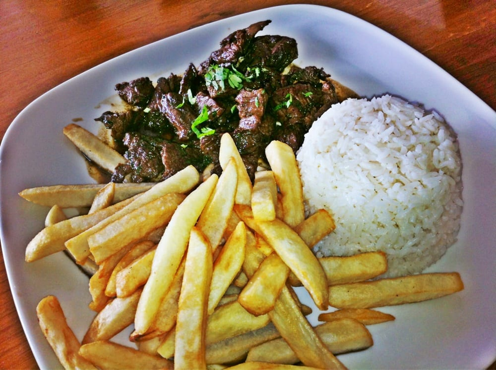 Lomo saltado beef was a bit tough fries were meh yelp for Authentic peruvian cuisine