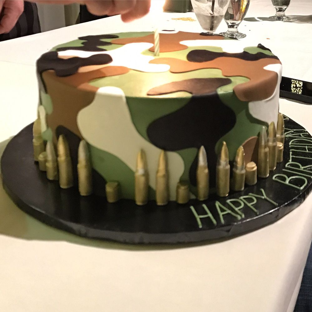 Ammo camo birthday cake, perfection - Yelp